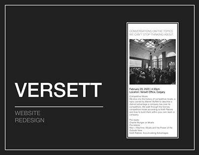 Versett agency | redesign