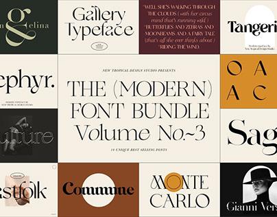 The Modern Font Bundle Vol.3