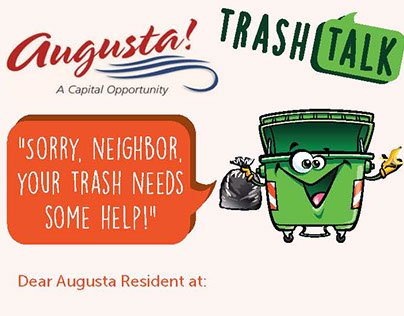 City of Augusta's Rubbish Violation Tags