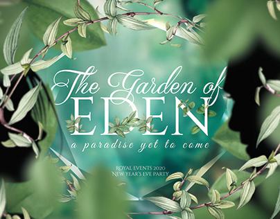 The Garden of Eden   Event branding