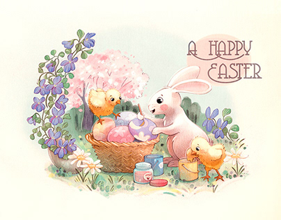 A Happy Easter, Postcard