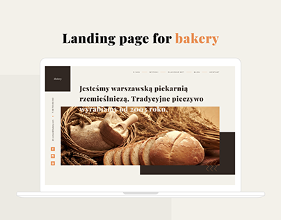 iBakery - landing page for bakery