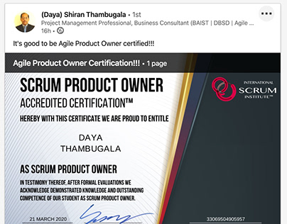 Scrum Institute - Scrum Product Owner Certifications