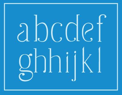 Handwritten Alphabet: Slender