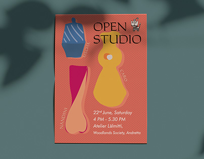 Clay-Time Open Studio Poster