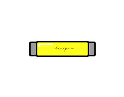 "Short-fast logo ""LAMP"""