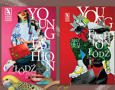 Fashion collage posters