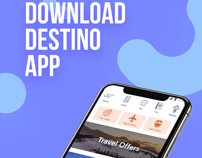 UI Design | Destino Travel Agency App prototype