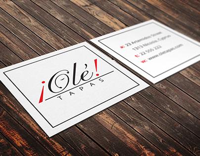 ¡Ole! tapas - restaurant branding