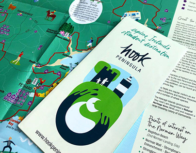 Hook Peninsula - Logo brand and illustrated map