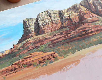 Arizona Landscape Painting in Acrylic