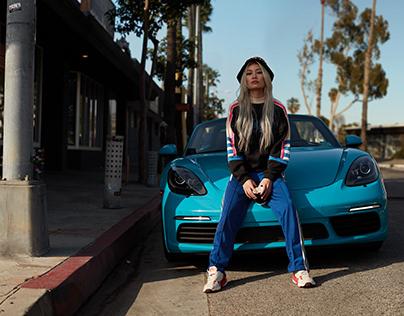 Porsche miami blue meets Adidas