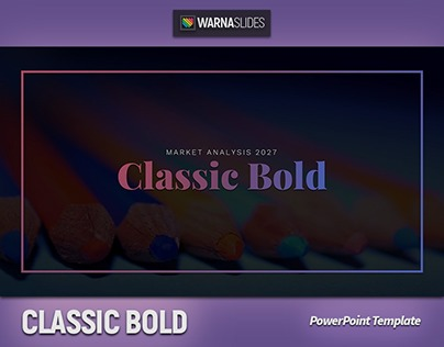Classic Bold Powerpoint Template Free Theme Available On Behance