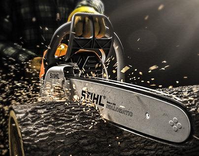 STIHL Chainsaw - CGI & Retouching