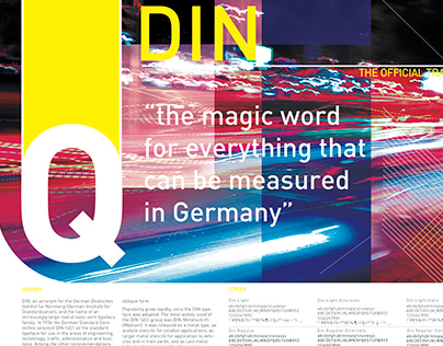 DIN | Typeface Poster