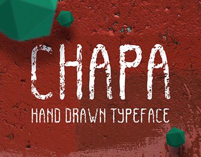 CHAPA. Hand drawn typeface