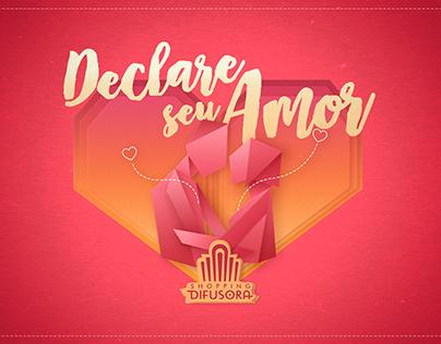 Declare seu amor   Dia dos Namorados Shopping Difusora