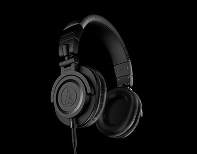 Audio-Technica ATH-M50 3D animation