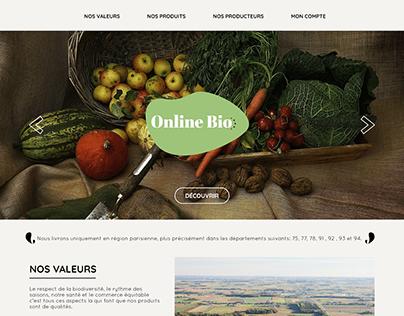 Hackaton Site Vitrine Online Bio