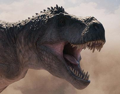 Tyrannosaurus. The Jurassic Games