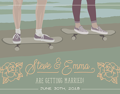 Steve & Emma: Save the Date Design