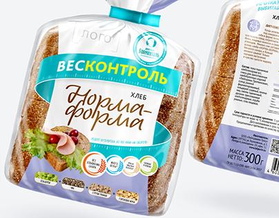 """WEIGHTCONTROL"": brand of healthy bread"