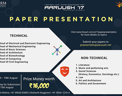Aaruush'17 Paper Presentation