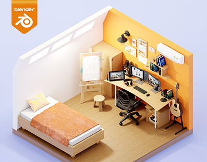 3D ISOMETRIC WORKSPACE