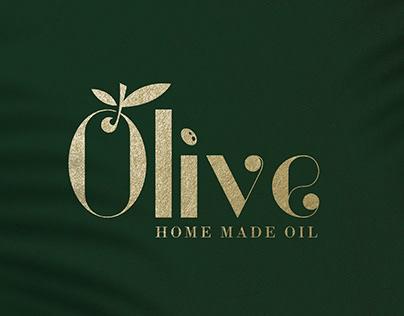 Olive Oil Typography Logo
