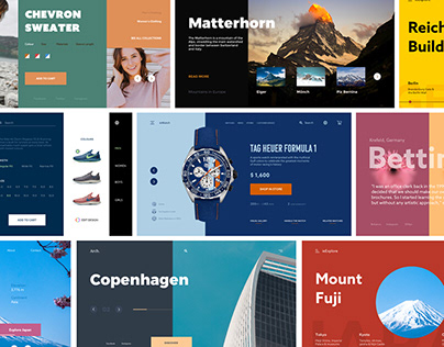 Collection of Interactive Landing Page
