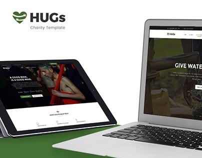 Hugs Charity/Nonprofit Template PSD
