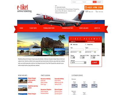 Web design for E-Tiket