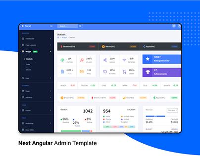Next Angular admin template