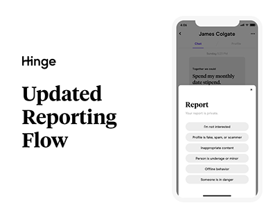 Hinge | Updated Reporting Flow