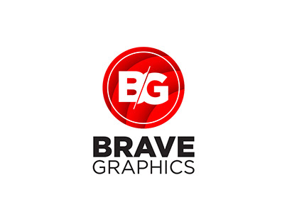 Brave Graphics logo and Business card