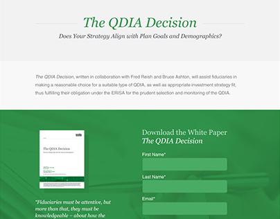 The QDIA Decision - Microsite