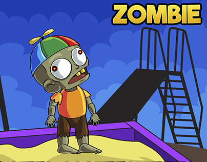 2D Game Zombie Kids Character Sprite 8