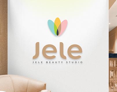 JELE BEAUTY STUDIO. Дизайн логотипа и фирменный стиль.