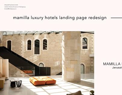 Mamilla Luxury Hotels Landing Page
