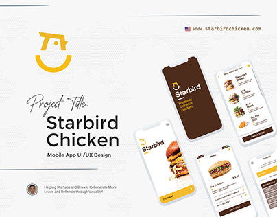 """Starbird Chicken "" Mobile App UI/UX Design"
