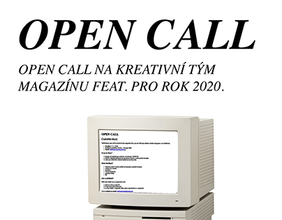 Poster Design for Open Call