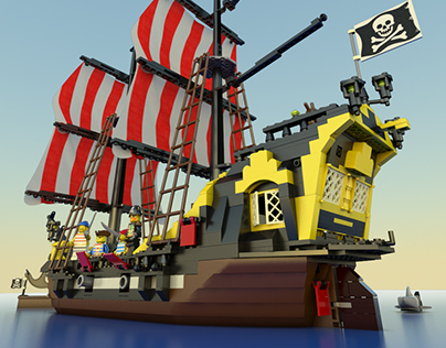 Lego Old Pirates Series 3d realisation