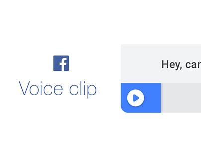 Facebook - Voice clip