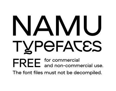 NAMU typefaces