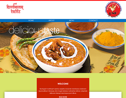 SK Delhi Wale Restaurant Website Design and Development