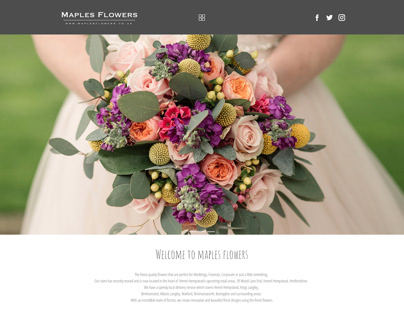 Maples Flowers Website Design