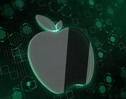 3D abstract logo intro