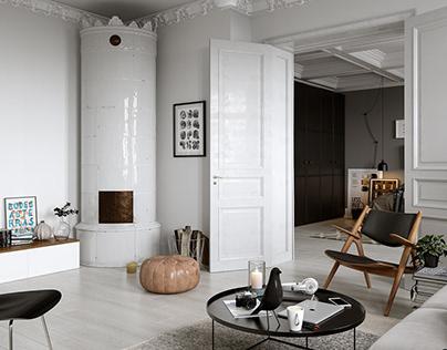 Scandinavian apartment in Stockholm