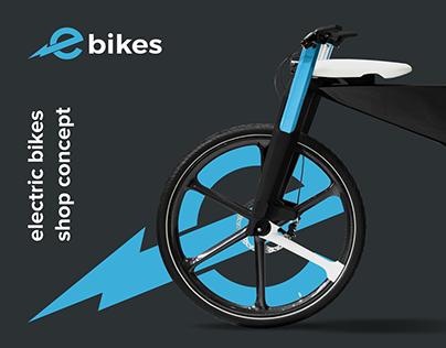E-commerce electric bikes shop