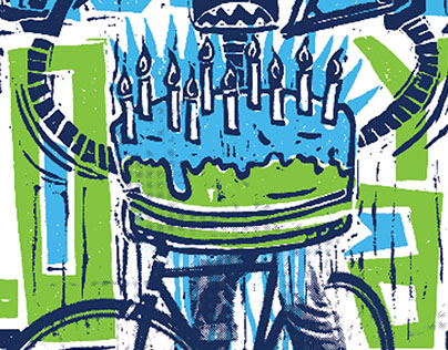 Blue Lug Bike Shop Japan 10th Anniversary Poster